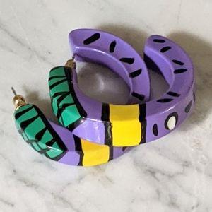 90's Vintage Half-Moon Stud Earrings